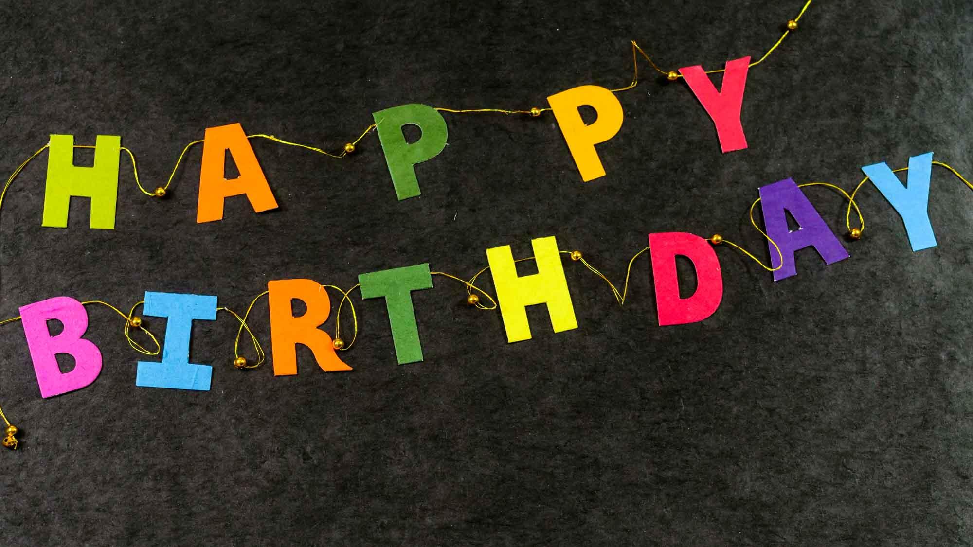 Girlande 'Happy Birthday'