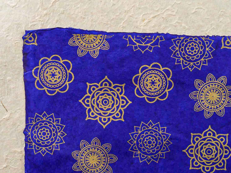 Geschenkpapier 'Mandala' Königsblau