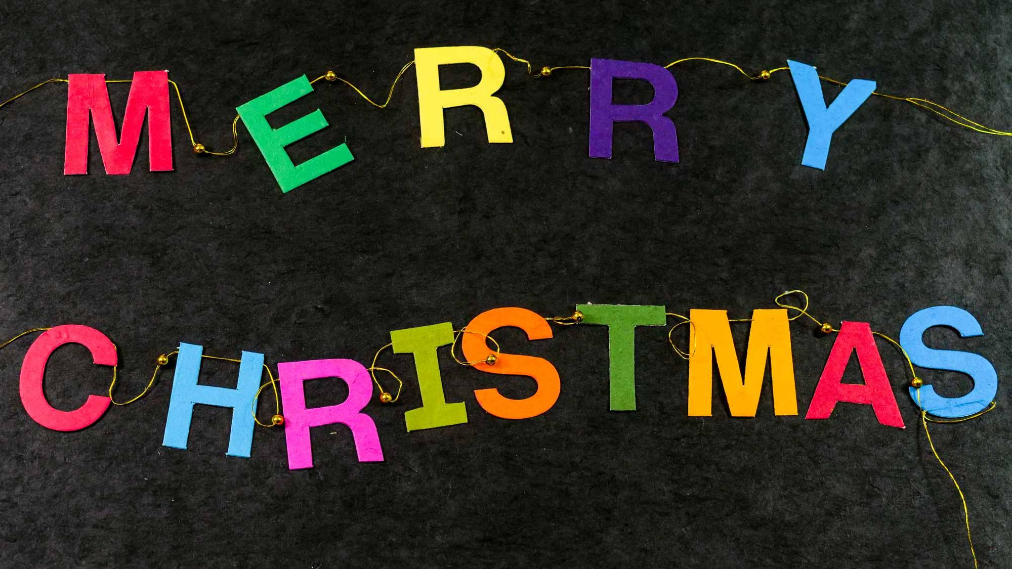 Girlande 'Merry Christmas'