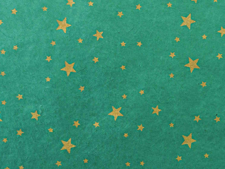 Geschenkpapier Gold 'Tara' Smaragd
