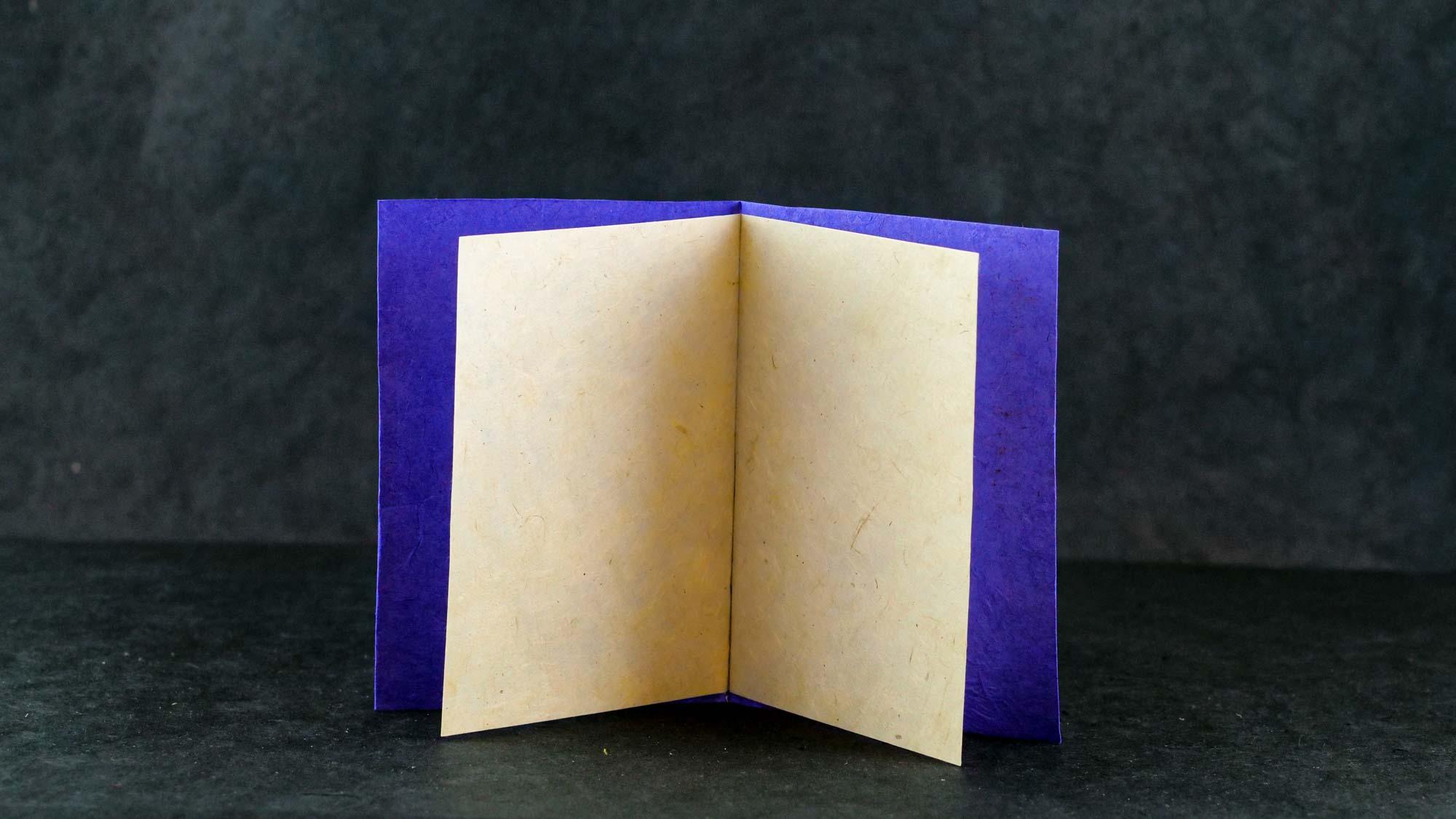 Briefkarte Batik 'Engel' Königsblau