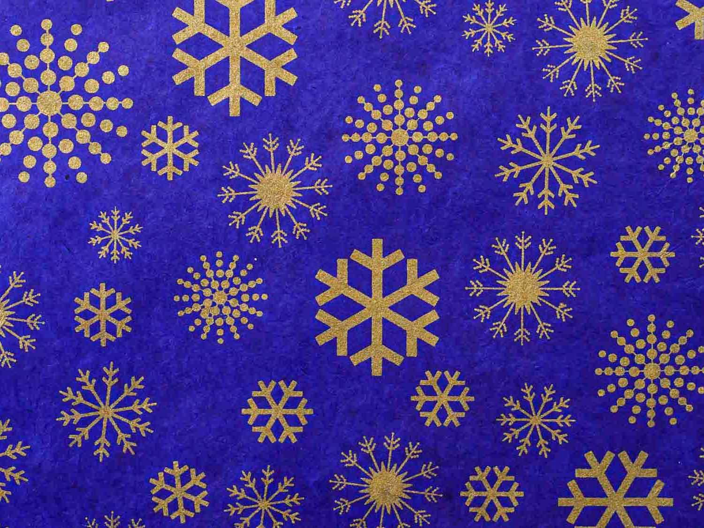 Geschenkpapier 'Snowflakes' Königsblau