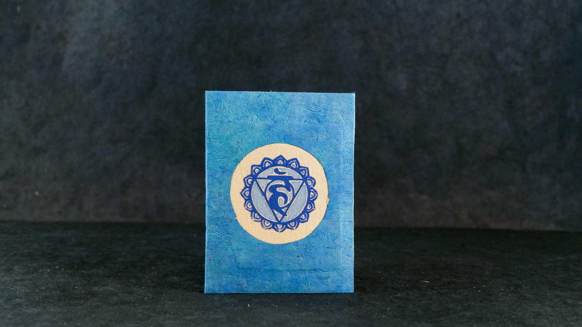 Briefkarte, Chakra Vissudha (Kehlkopf Chakra)