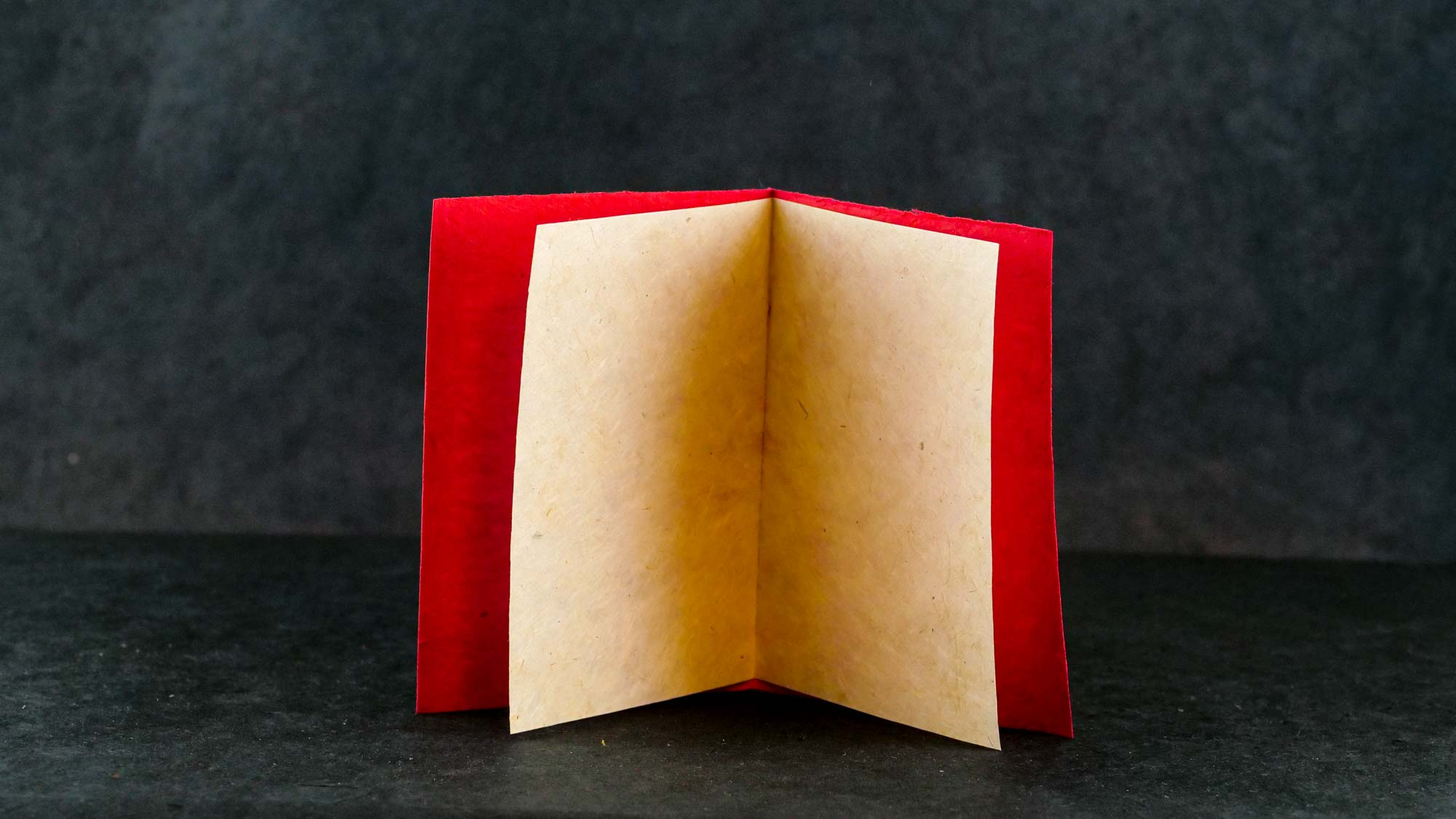 Briefkarte Batik 'Engel' Rot