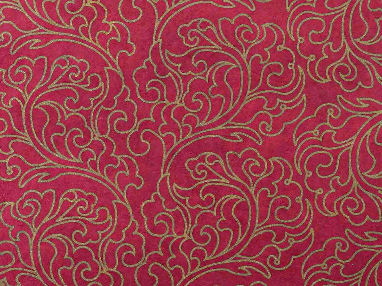 Geschenkpapier 'Nyima' Bordeaux