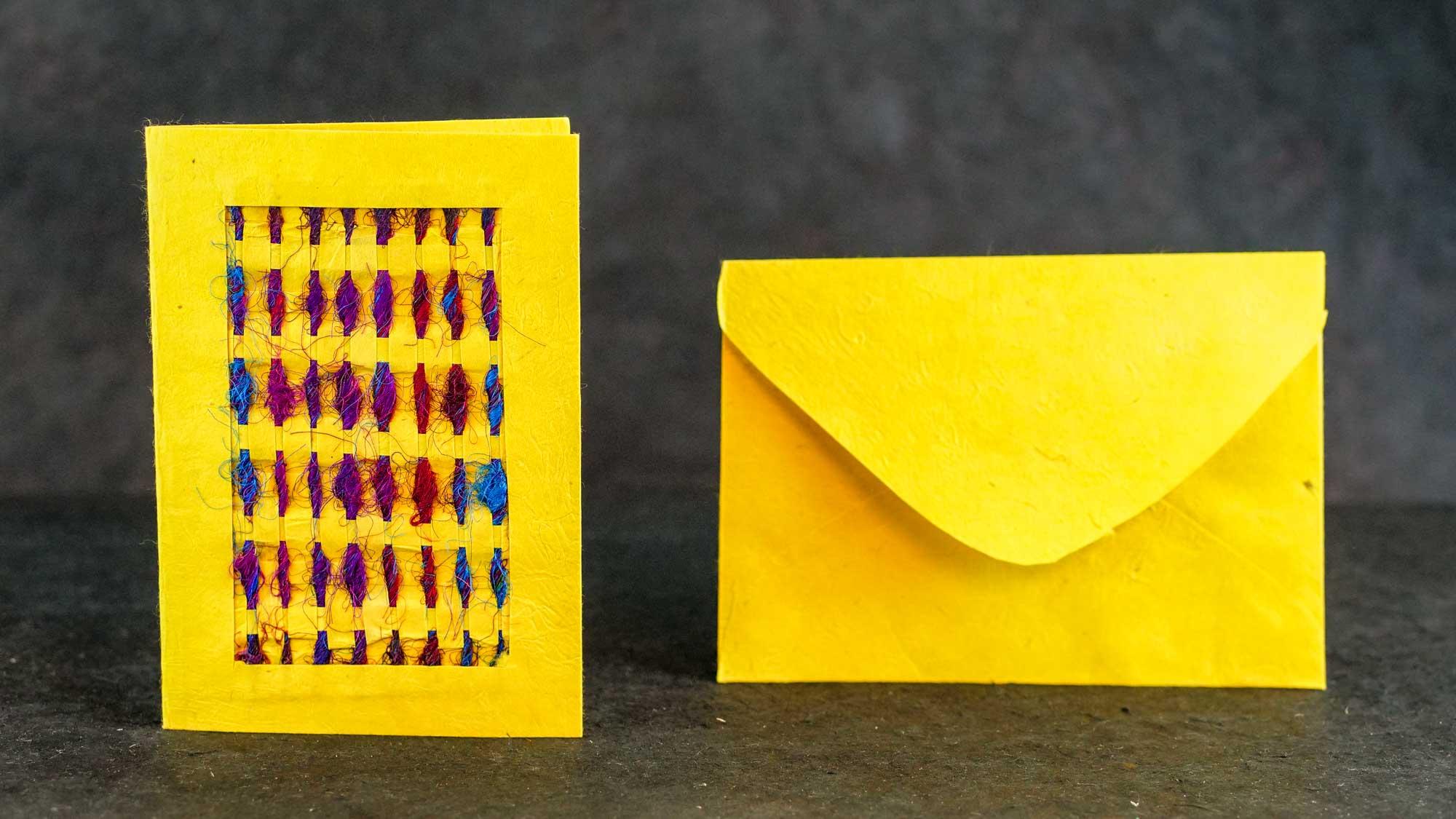 Briefkarte Silk Gelb