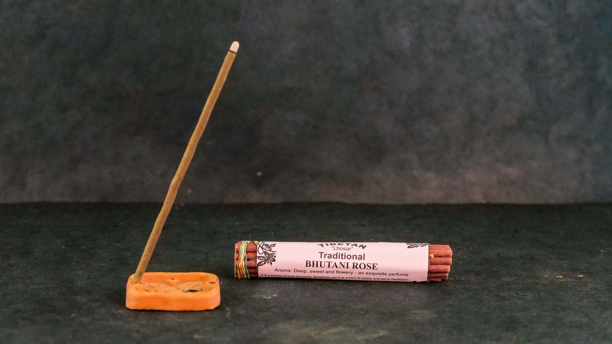 Räucherstäbchen 'Bhutani Rose'