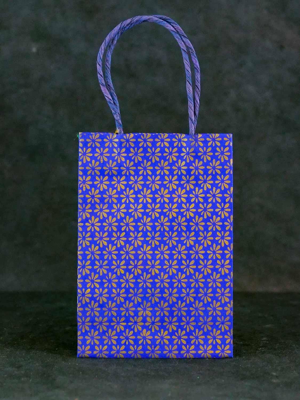 Geschenktüte Hoch Königsblau