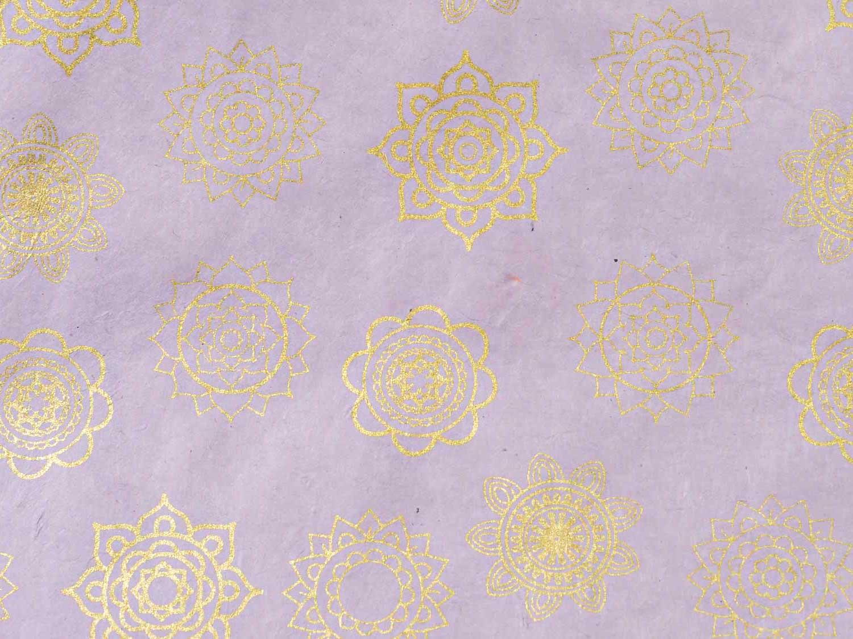 Geschenkpapier Pastell 'Mandala' Flieder