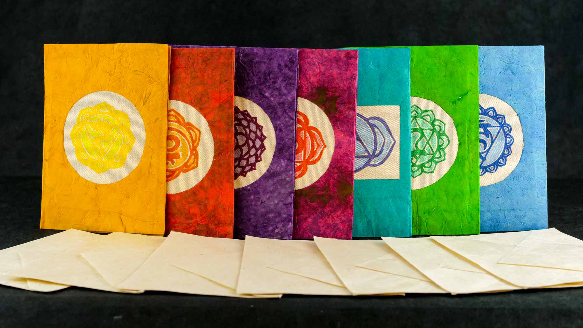 Briefkarte 'Chakra' Set